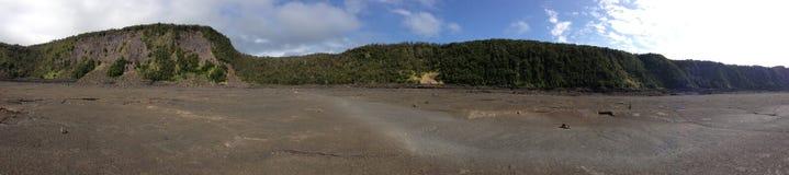 Panoramic Photo of Volcanic Caldera Royalty Free Stock Image