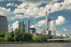 Panoramic photograph of  Frankfurt am Main Royalty Free Stock Images