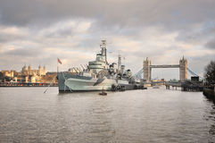 Panoramic photograph from river Thames, London Stock Image