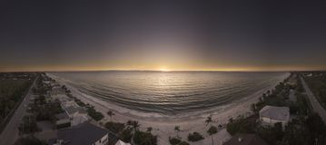 Panoramic Photography of Beach during Golden Hour Royalty Free Stock Image