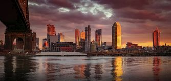Panoramic Photography of City Near Body of Water Stock Photo