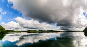 Panoramic Photography of Lake Surrounded by River Royalty Free Stock Photo