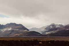 Panoramic Photography of Mountains Near Cloudy Sky during Daytime Royalty Free Stock Photos