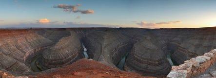Goosenecks state park, panorama Royalty Free Stock Images