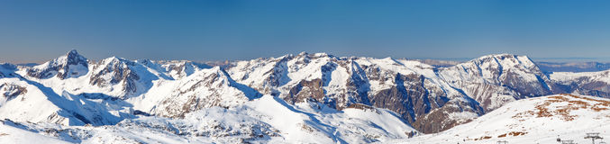 Panoramic picture of French Alps Stock Photos
