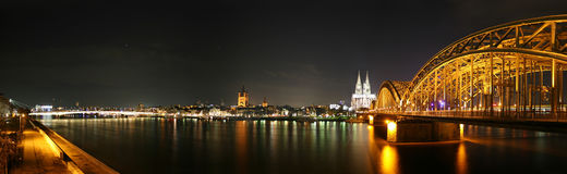 Panoramic picture of the german city Cologne Stock Image