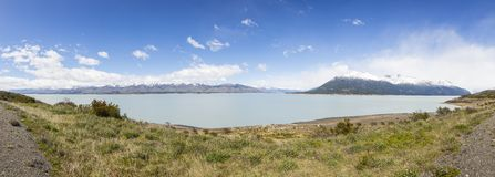 Panoramic picture of Lago Viedma stock photography