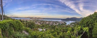 Panoramic picture of Lagoa da Conceição royalty free stock images