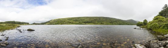 Panoramic picture of a lake in Killarney National Park. In southern Ireland / Europe royalty free stock images