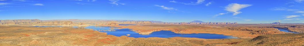 Panoramic picture of Lake Powell royalty free stock photo