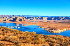 Panoramic picture of Lake Powell royalty free stock photos