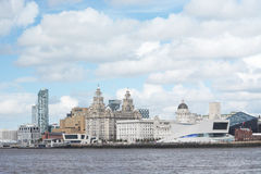 A panoramic picture of Liverpool Royalty Free Stock Image