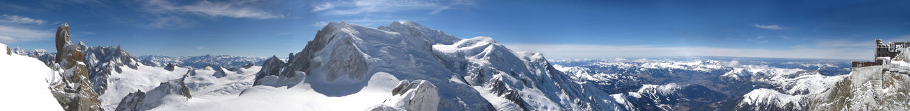 Panoramic picture of Mont Blanc, french Alps Royalty Free Stock Image