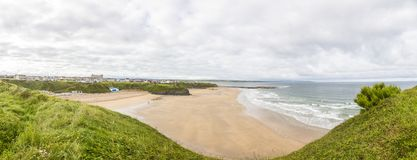 Panoramic picture over Ballybunion beach royalty free stock image