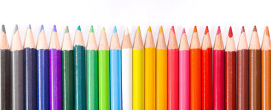 Panoramic picture with pencil Royalty Free Stock Image