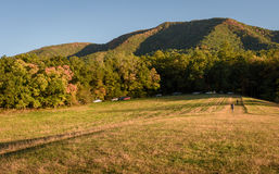 Panoramic picture of Smoky Mountains National Park during Fall Season royalty free stock photo
