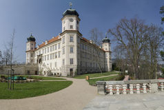 Panoramic picture of Mnisek chateau, Czech Stock Images