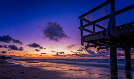 Sunset beach panorama Royalty Free Stock Photography