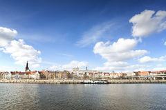 Panoramic picture of Szczecin (Stettin) City riverside, Poland Stock Photos