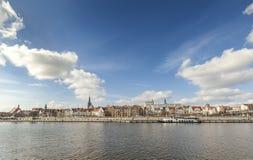 Panoramic picture of Szczecin (Stettin) City riverside, Poland Royalty Free Stock Photos