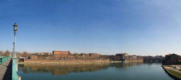 Panoramic picture Toulouse city in France Royalty Free Stock Photo