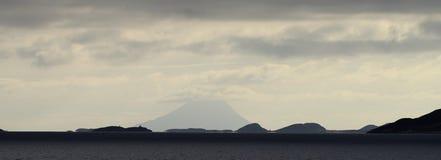 Panoramic polar circle. In norway royalty free stock photo