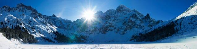 Panoramic Polish Tatras Royalty Free Stock Photography