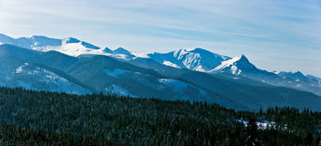 Panoramic Polish Tatras in winter Royalty Free Stock Photos