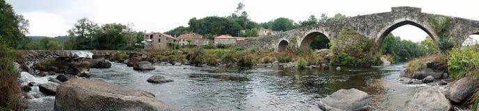 Panoramic Ponte Maceiras royalty free stock photo