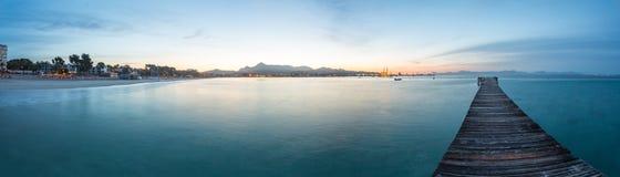 Panoramic  Pontoon and beach Stock Image