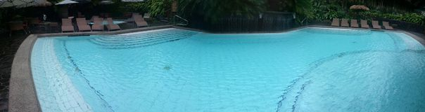 Panoramic pool Royalty Free Stock Photography