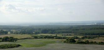 Panoramic of Poole Harbour, Dorset, UK. Panoramic of Poole Harbour in Purbeck, Dorset, UK Royalty Free Stock Image