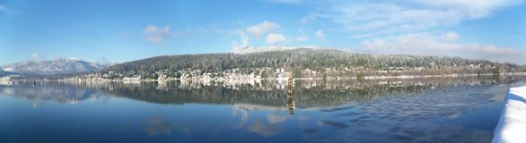 Panoramic of Port Moody Bay Royalty Free Stock Photos