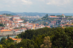 Panoramic of Porto city Stock Photography