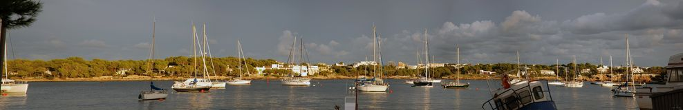 Panoramic Porto Colom Stock Image
