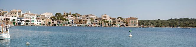Panoramic Porto Colom Royalty Free Stock Image