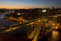 Panoramic of Porto, Portugal Royalty Free Stock Images