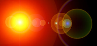 Panoramic power sun. Energy background. Sun and lens flare. Computer generated Stock Photos
