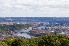 Panoramic Prague Royalty Free Stock Image