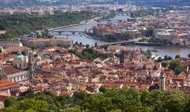 Panoramic Prague Royalty Free Stock Photography