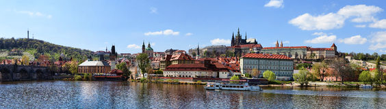Panoramic Prague Castle Stock Photography
