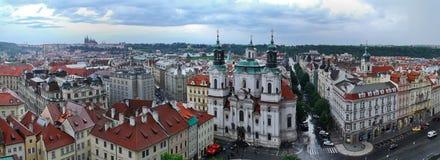 Panoramic Prague View Stock Photo