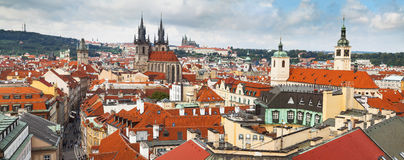 Panoramic of Prague Royalty Free Stock Images