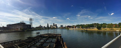 Panoramic of Providence, Rhode Island Stock Photography