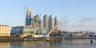 Panoramic of Puerto Madero Royalty Free Stock Photo