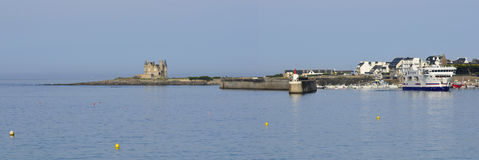 Panoramic of Quiberon in France Royalty Free Stock Image