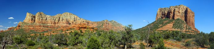 Panoramic of Red Rocks in Sedona AZ Stock Photo