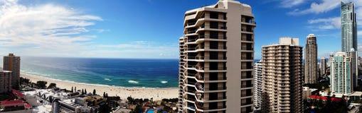 Panoramic resort town Royalty Free Stock Photo