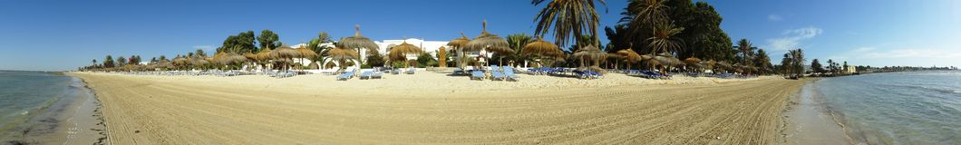 Panoramic resort view in Djerba Stock Photo