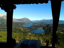 Panoramic Restaurant in Argentina. A beautiful panoramic restaurant in Bariloche, Argentina royalty free stock photo